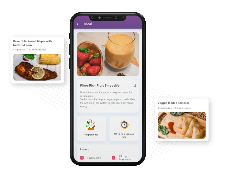 mind and mom app nourish feature
